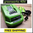 GreenWorks Battery Charger 40V Volt GMAX Lithium Ion for Lawn and Garden Tools 29482 NEW