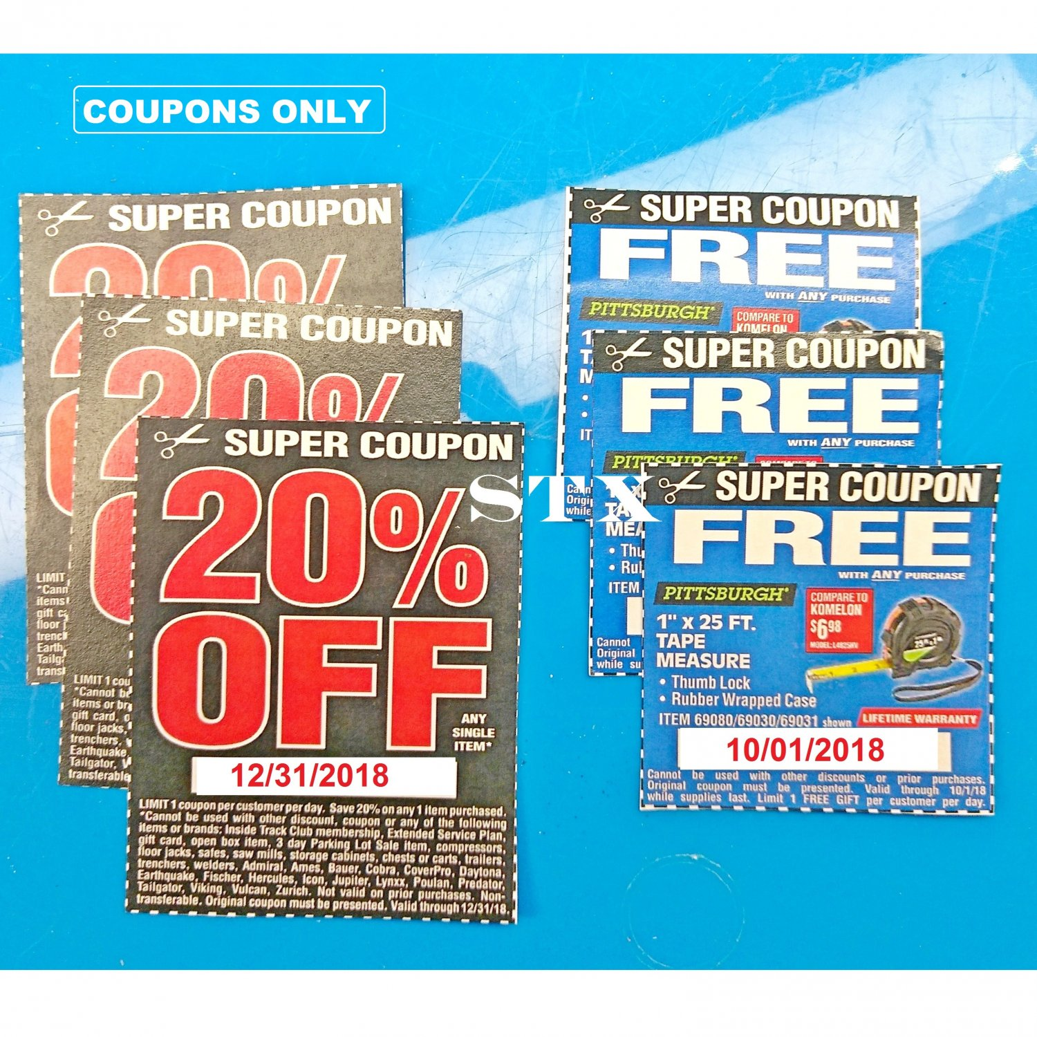 3x Harbor Freight 20 Off 12 2018 3x 25ft Tape Coupon 10 18