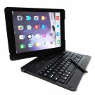 Rotatable Bluetooth Wireless Keyboard Case for iPad Air 1 & 2 with Built-in Stylus