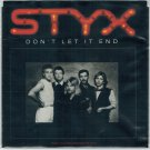 Styx - Don't Let It End 45 RPM Record + PICTURE SLEEVE