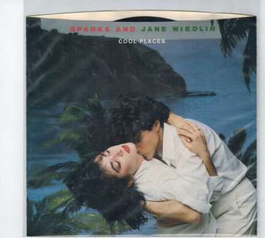 Sparks & Jane Wiedlin - Cool Places 45 RPM Record + PICTURE SLEEVE