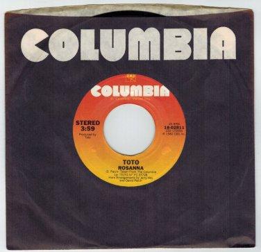 Toto - Rosanna 45 RPM RECORD