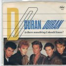 Duran Duran - Is There Something I Should Know 45 RPM Record + PICTURE SLEEVE