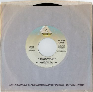 Ray Parker Jr. - A Woman Needs Love 45 RPM RECORD Raydio