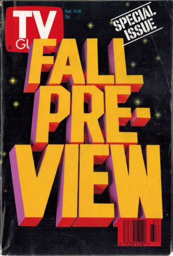 TV Guide FALL PREVIEW 1991 September 14 - 20 NO LABEL SAN FRANCISCO EDITION