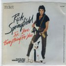 Rick Springfield - I've Done Everything For You 45 RPM Record + PICTURE SLEEVE