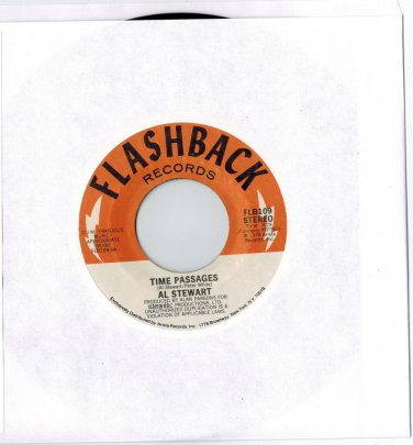 Al Stewart - Time Passages / Song On The Radio (2 HITS ON 1) 45 RPM RECORD