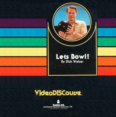 Let's Bowl with Dick Weber LASERDISC NTSC