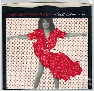 Linda Ronstadt - Get Closer 45 RPM Record + PICTURE SLEEVE