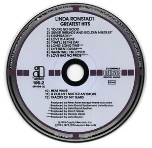 TARGET West Germany Greatest Hits, Vol. 1 by Linda Ronstadt CD