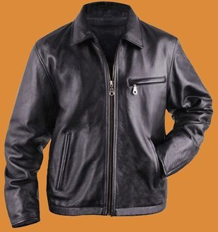 Straight Bottom Leather jacket