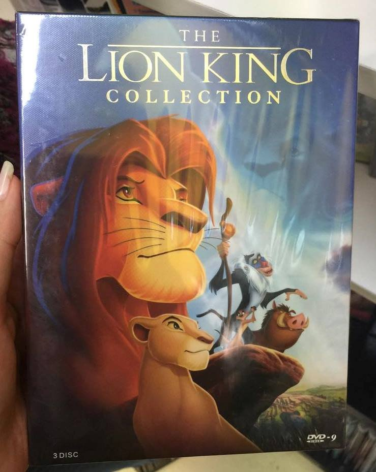 Disney Lion King Trilogy Complete Collection Movie DVD Boxset