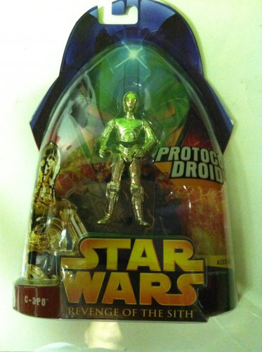 STAR WARS REVENGE OF THE SITH C3PO PROTOCAL DROID ACTION FIGURE IN PACKAGE
