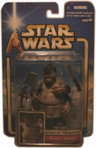 ATTACK OF THE CLONES DEXTER JETTSTER ACTION FIGURE