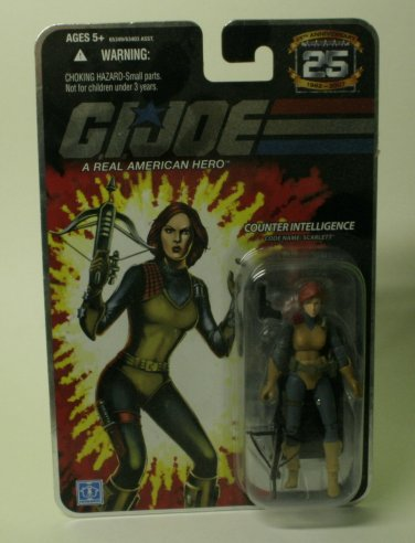 GI JOE SCARLETT ANNIVERSARY REISSUE ACTION FIGURE NOW MARKED DOWN+FREE SHIPPING