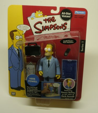 THE SIMPSONS HERB POWELL PLAYMATES INTERACTIVE ACTION FIGURE NEW IN PACKAGE