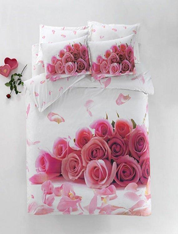 100% Cotton 3D Double Bedding Duvet Cover Set