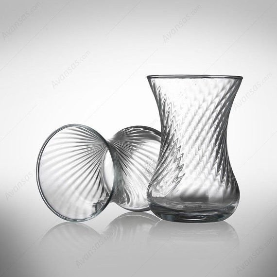 Turkish Tea Serving Set 6 -Tea Glasses Cups-cup of tea