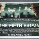 THE FIFTH ESTATE 2013 Movie Advertising Sign Newspaper Kiosk/vending machi