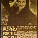 PORNO FOR THE PEOPLE - Susie Bright in person '95 Roxie Cinema poster yellow