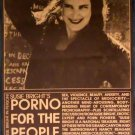 PORNO FOR THE PEOPLE - Susie Bright in person '95 Roxie Cinema poster goldenrod