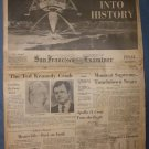 Vintage SAN FRANCISCO EXAMINER Jul 20,1969 Sun Moon Landing Ted Kennedy accident