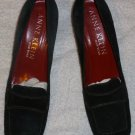 New ANNE KLEIN Ladies Black Suede Pumps Size 8 N Made in Italy Heels Shoes
