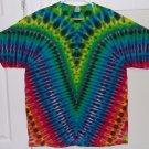 New Tie Dye XL AAA Alstyle Tshirt Rainbow colors Yoke fold V pattern t shirt