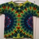 New Tie Dye Alstyle 4T Toddler T shirt Rainbow Side Centered Circle pattern