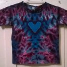 New Tie Dye Alstyle 4T Toddler T shirt Purple Blue Heart pattern Crinkled