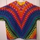 New Tie Dye XXXL (3XL) AAA Alstyle Tshirt Rainbow Color V pattern Yoke t shirt