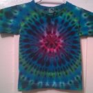 New Tie Dye Alstyle 3T Toddler Tshirt Blue Green Purple Circular pleated pattern