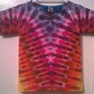 New Tie Dye Alstyle 2T Toddler Tshirt Rainbow pleated V or Yoke pattern t shirt