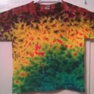 New Tie Dye Juvy Large (7) Alstyle Tshirt Rainbow colored Crinkle t shirt