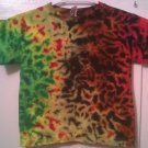 New Tie Dye Juvy Large (7) Alstyle Tshirt Earthy & Green colors Crinkle t shirt Crinkle t shirt