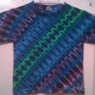 New Tie Dye Juvy Medium (5/6) Alstyle Tshirt Blues Greens Purples Zipper pattern