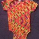 New Tie Dye Infant 12 Month Alstyle Onesie Earth Tone pleated Chevron pattern