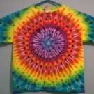 New Tie Dye Juvy Large (7) Alstyle Tshirt Rainbow Circular pleated pattern