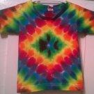 New Tie Dye Alstyle 2T Toddler Tshirt Diamond pattern Rainbow color t shirt