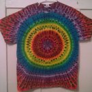 New Tie Dye XL Gildan Tshirt Rainbow Colors Circular Pleated pattern t shirt