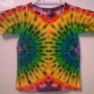 New Tie Dye Alstyle 2T Toddler Tshirt Side Centered Circular Pattern Rainbow