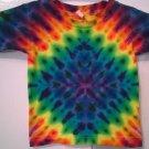New Tie Dye Alstyle 3T 100% Cotton Short Sleeve Tshirt All Seasons Everyday Rainbow Colored Diamond