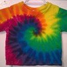 Child Tie Dye 6-12 Month 55% Hemp 45% Cotton Short Sleeve Tshirt Multi-color New Spiral