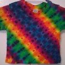 Child Tie Dye 6-12 Month 55% Hemp 45% Cotton Short Sleeve Tshirt Multi-color New Zipper
