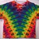 Child Tie Dye 6-12 Month 55% Hemp 45% Cotton Short Sleeve Tshirt Multi-color New V/Yoke