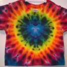 Child Tie Dye 6-12 Month 55% Hemp 45% Cotton Short Sleeve Tshirt Multi-color New Heart