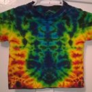Child Tie Dye 6-12 Month 55% Hemp 45% Cotton Short Sleeve Tshirt Multi-color New Crinkle
