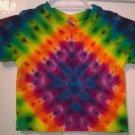 Child Tie Dye 6-12 Month 55% Hemp 45% Cotton Short Sleeve Tshirt Multi-color New Diamond