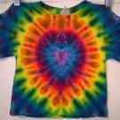 Tie Dye 2 Toddler 55% Hemp 45% Cotton Short Sleeve T-shirt New Rainbow Orchid Heart