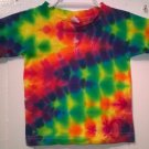 New Tie Dye Alstyle 3T Toddler 100% Cotton Short Sleeve T-shirt Multi-color Lightning